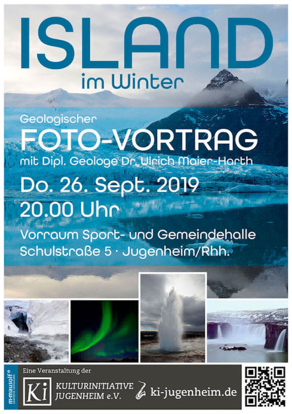 Island im Winter Plakat